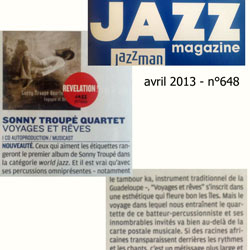 Sonny Troupé quartet