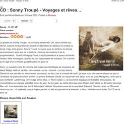 Sonny Troupé – Voyages et Rêves
