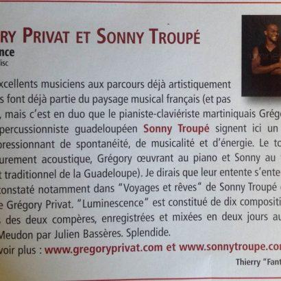 Grégory Privat et Sonny Troupé