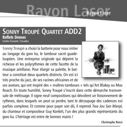 Sonny Troupé Quartet Add 2 / Reflets Denses