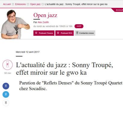Sonny Troupé, effet miroir sur le gwo ka